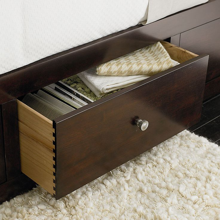 The redin park storage bed by bassett furniture offers a for Bedroom furniture storage solutions
