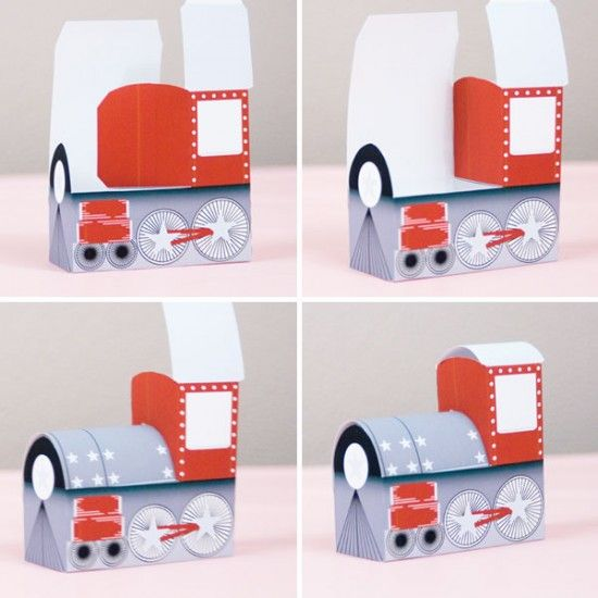 The Valentine's Express: a printable Valentine train. Perfect for filling with candy.