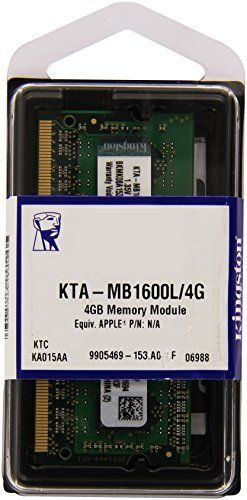 Kingston Technology - 4GB Kit de Memoria para Computadoras Portأ،tiles Mac, 1600MHz LV SODIMM 1.35 V