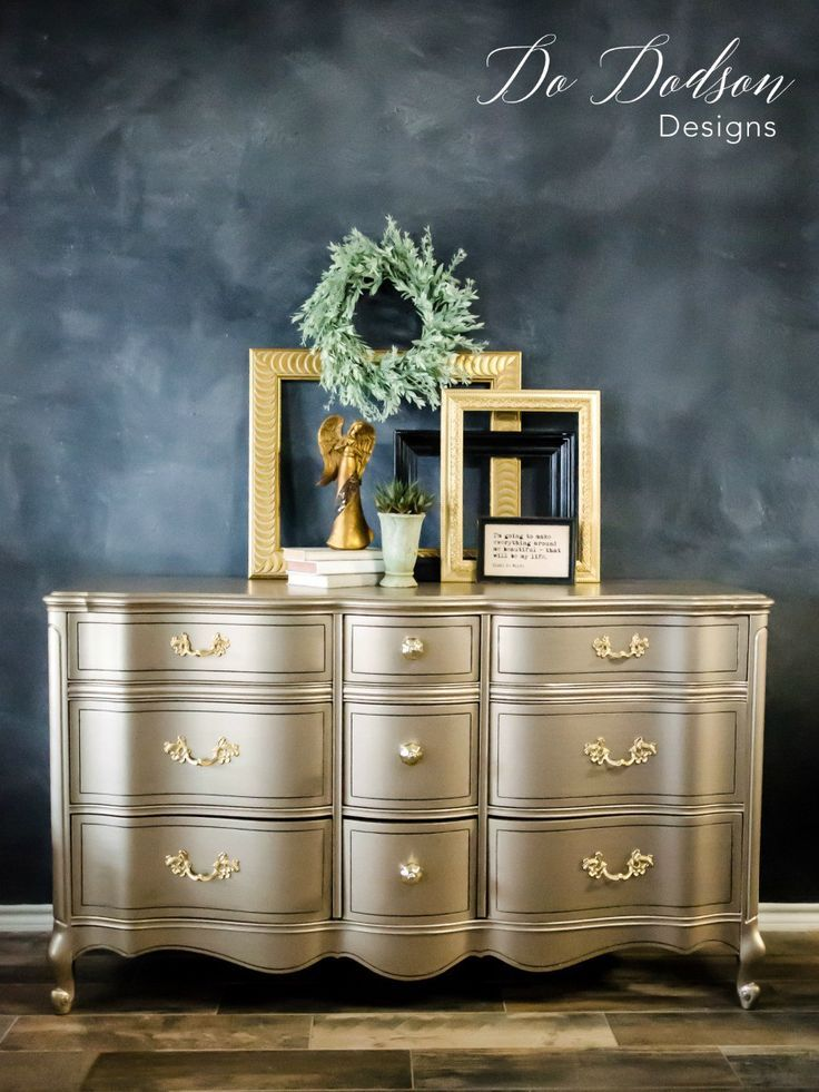 Metallic Paint On Furniture You Can, Is Painted Furniture Still Popular