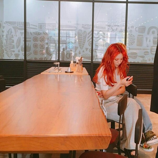 Hyuna Red hair Triple H 365 fresh