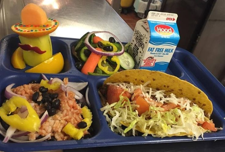 #TacoTuesday from Oyster River Child Nutrition. Doris Demers ... THIS Oyster River Middle School Taco Tray, with a little spice from the banana peppers and an ADORABLE MUSTACHIO MAN ... DOES knock it out of the park!