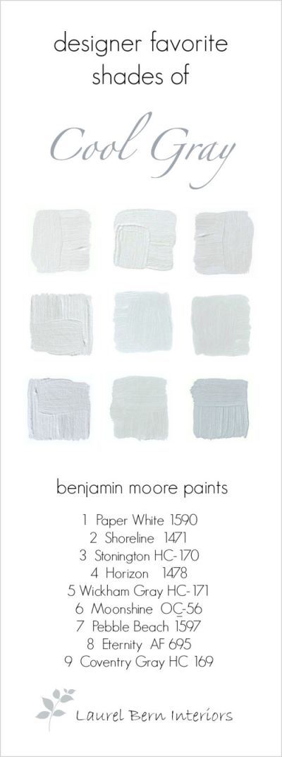 9 Fabulous Benjamin Moore Cool Gray Paint Colors   laurel home   cool gray colors are great in bathrooms