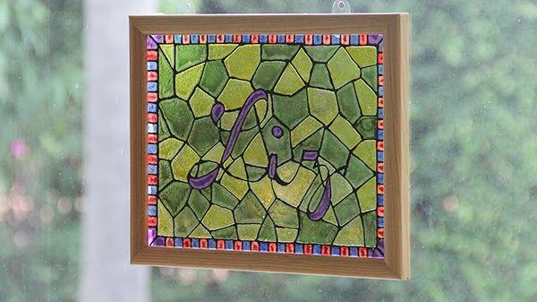 Aprende a hacer un vitral decorativo