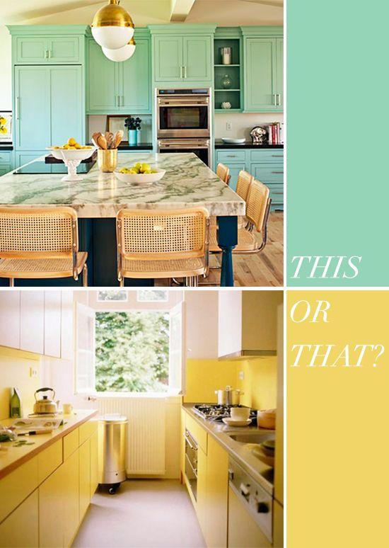 Die besten 10 Bilder zu Small Yellow Kitchen auf Pinterest   Key ...