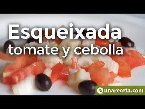 Esqueixada de bacalao con cebolla y tomate, una receta catalana que te sorprenderá   #Esqueixada #RecetasCatalanas #RecetasConBacalao #RecetasDeBacalao #Bacalao