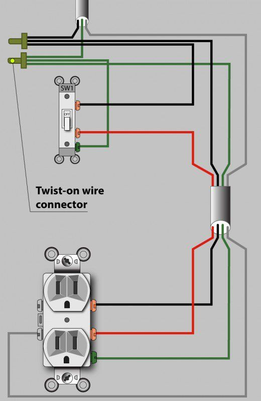 Alternate Split Receptacle Wiring Diagram