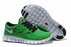 Nike Free Run+ 2 Green Black Mens running Shoes