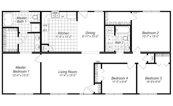 Beautiful Simple Four Bedroom House Plans Design Tyuka Info In 2020 Four Bedroom House Plans 4 Bedroom House Plans Bedroom Floor Plans