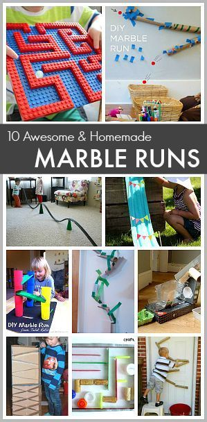STEM for Kids: 10 Awesome Homemade Marble Runs- Make marble tracks using Lego bricks, pool noodles, cardboard tubes, and more!