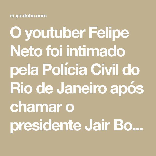 """O youtuber Felipe Neto foi intimado pela Polícia Civil do Rio de Janeiro após chamar o presidente Jair Bolsonaro de """"genocida"""" nas redes sociais. Através d..."""