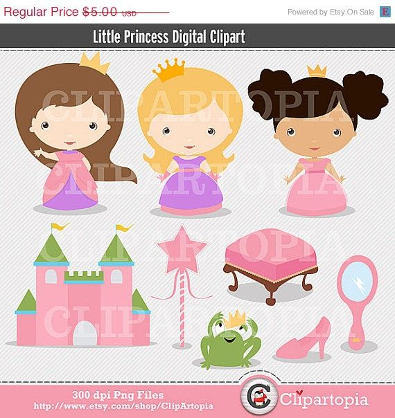 50 OFF SALE Little Princess Cute Princess Digital by ClipArtopia, $2.50