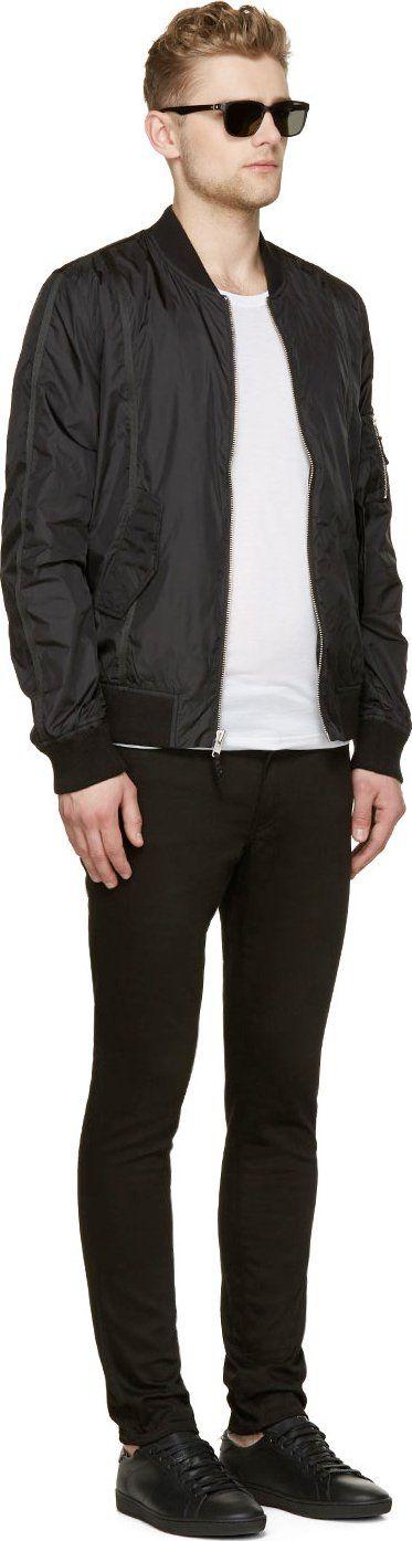BLK DNM Black Nylon Bomber Jacket