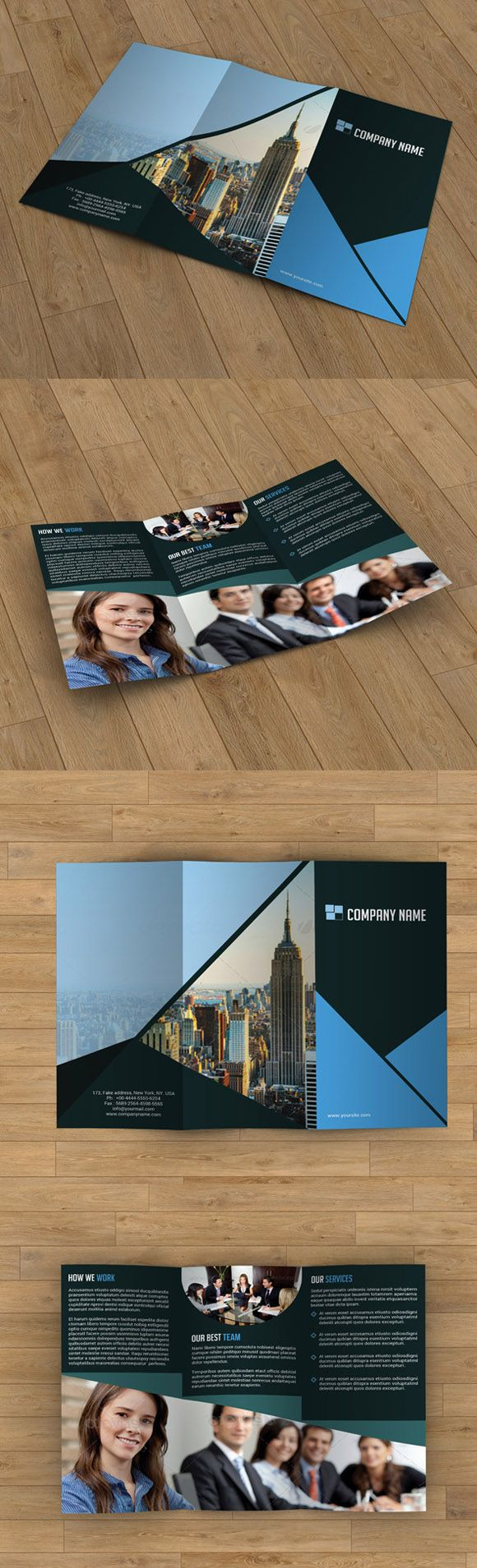 Tri-fold brochure by Template Shop on Creative Market