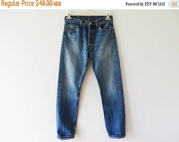 CIJ SALE Vintage 1980's High Waist Levis 501 Jeans Grunge Blue Mom Pants Americana Boyfriend Jeans Loose Fit Tapered Leg Trousers W 30 L 34