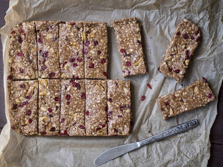 Protein bars: Rather than buying expensive, ready-made bars that are probably unhealthy, I've been experimenting with making my own. Here's a recipe that she likes.
