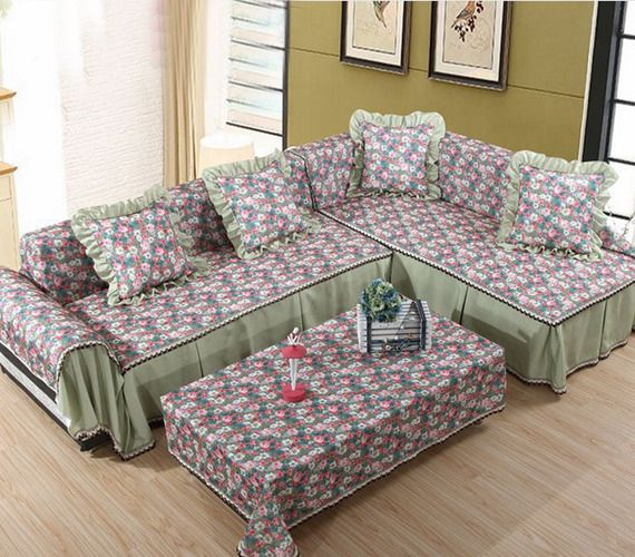 Acetate Fiber Lace L Shape Sofa Couch Cover Raut Protector Slipcover Home Diy Cushions On Sofa Single Seater Sofa Couch Covers