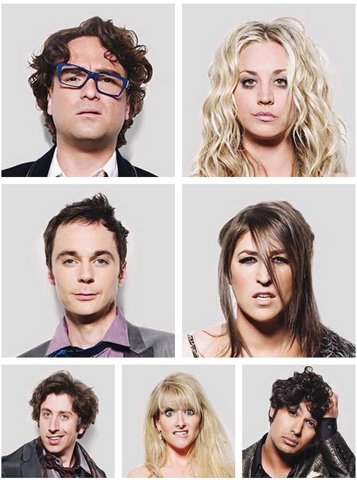 Big Bang Theory cast... Rhoooo ! les tronches ! mdrrr