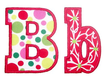 have chunky applique alphabet embroidery boutique