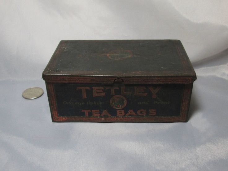 Vintage Tetley Tea Bag Tin by Nevadamadam on Etsy
