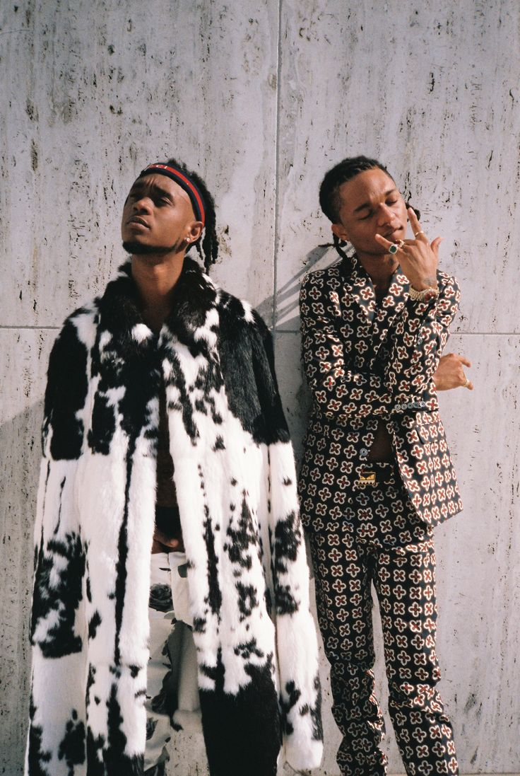 """those are roses on his jeans!!! ...and I'm here for that """"x"""" & """"+"""" suit->> The Party Never Stops For Rae Sremmurd"""