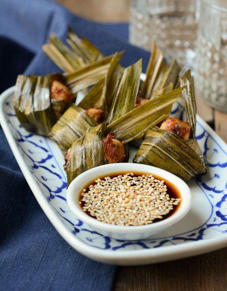 Pandan Chicken Bites | Gai Bai Tuey | ไก่ใบเตย