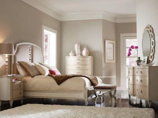Leinwandbilder schlafzimmer ~ Schlafzimmer tlg klassisch hochglanz bett beige