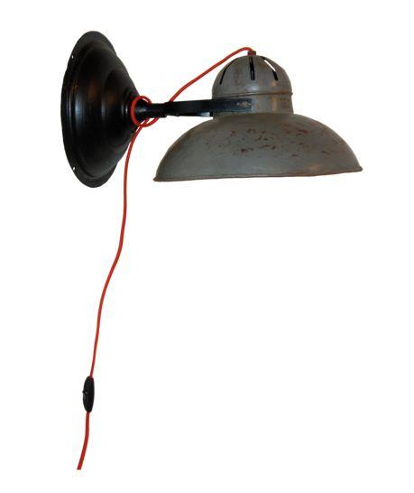 Vägglampa vintage - järn | Vintage lampor och belysning - ReformaSthlm.se