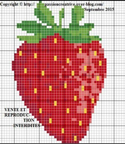 Strawberry cross stitch.