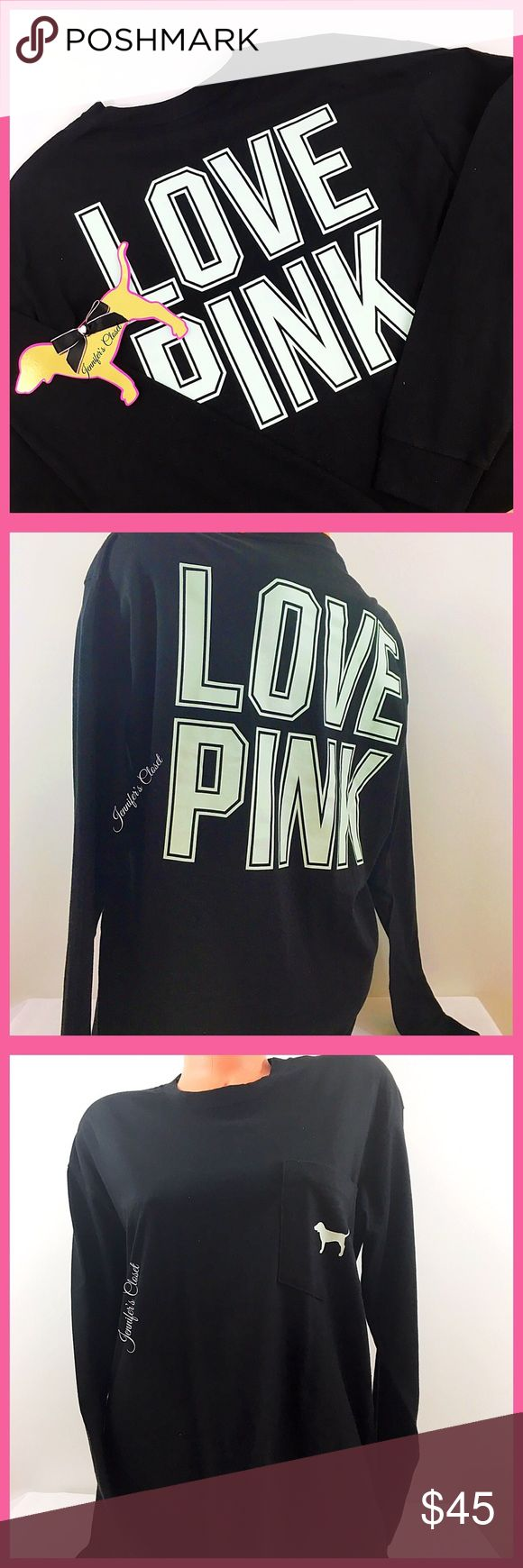 ••Victoria Secret PINK•• long sleeve pocket tshirt Welcome! 💞 Please read below if you are interested in this item:  🛍 Bundles available upon request for a discounted rate depending on how many items are added  🚭🐶🐱Smoke &pet free household  📬I ship Monday-Friday same/next day, unless it's a national holiday  💯All items are 100% AUTHENTIC  Some items are already priced at lowest. Do not use the offer button to lowball. It is offensive & not welcome in this closet! NO TRADES OR PP…