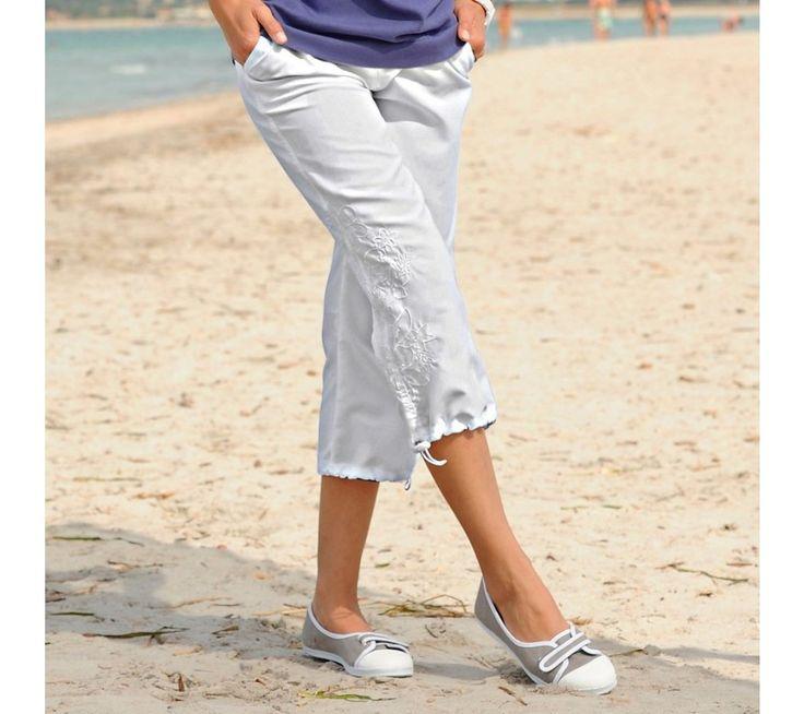 Letní 3/4 kalhoty s výšivkou | vyprodej-slevy.cz #vyprodejslevy #vyprodejslecycz #vyprodejslevy_cz #style #fashion #kratasy #sortky