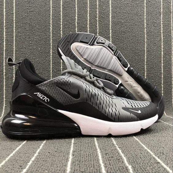promo code f4e07 07b88 Top Quality Nike Air Max 270 Retro Grey Black-White Men s Skateboarding  shoes Casual AH8050-003