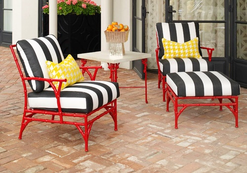 Michael Taylor Outdoor Bamboo Chairs - traditional - outdoor chairs - phoenix - Jamie Herzlinger