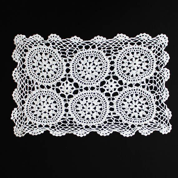 Vintage white crochet doily 100% cotton