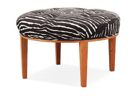 A Josef Frank stool, Svenskt Tenn, model 647. Diameter 63 cm, height 40 cm.