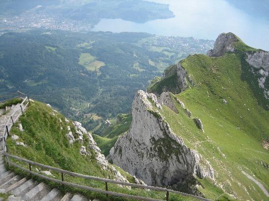 Mount Pilatus and Lake Lucern.