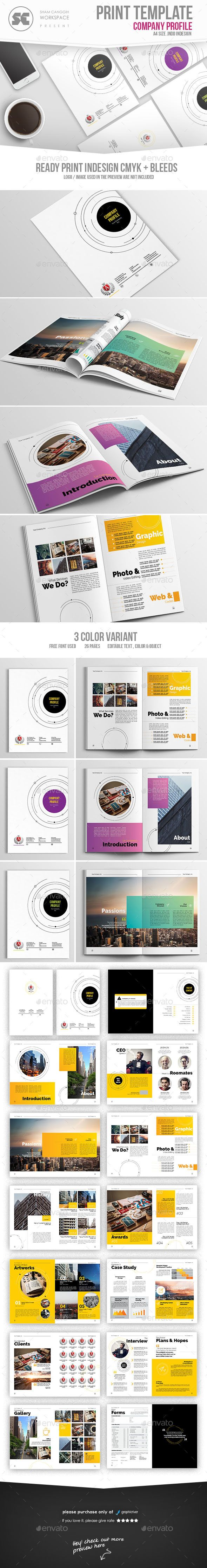 Company Profile — InDesign INDD #indesign #creative • Available here → https://graphicriver.net/item/company-profile/17207172?ref=pxcr