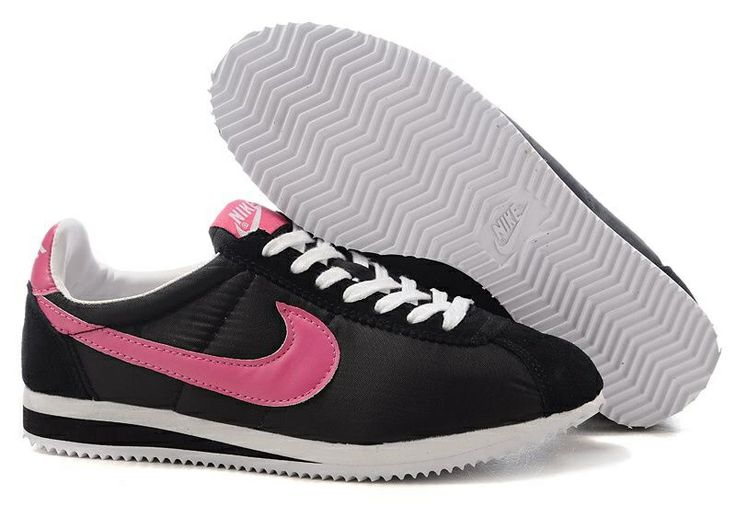 black and pink nike cortez