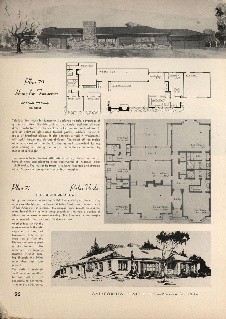 California plan book 1946 vintage house plans 1940s for Home plans california