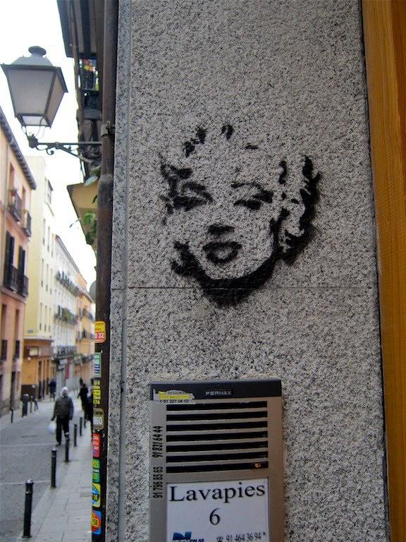 Marilyn, en Lavapies. MadridDiferente is a great Madrid Blog!