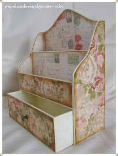 Papel, madera y algo más: Cartonnage - a mailbox with a little drawer.