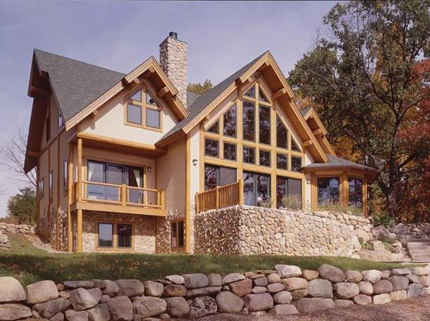 The 19 best images about dream home on pinterest for Log and stone homes