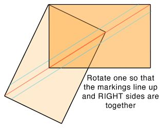 """a²(w): HRTs - For her samples she started with 5"""" x 3"""" rectangles and ended up with 4.25"""" x 3.5"""" rectangles."""