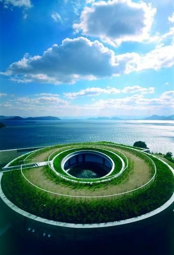 Kagawa: Naoshima Contemporary Art Island by Tadao Ando Architect, Benesse House Museum/Hotel, oval 香川: 直島, 安藤忠雄, ホテル #japan #sightseeing
