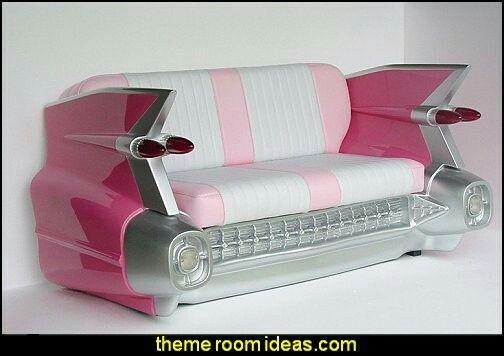 1959 CADILLAC CAR Sofá retro SOF settee ROSA
