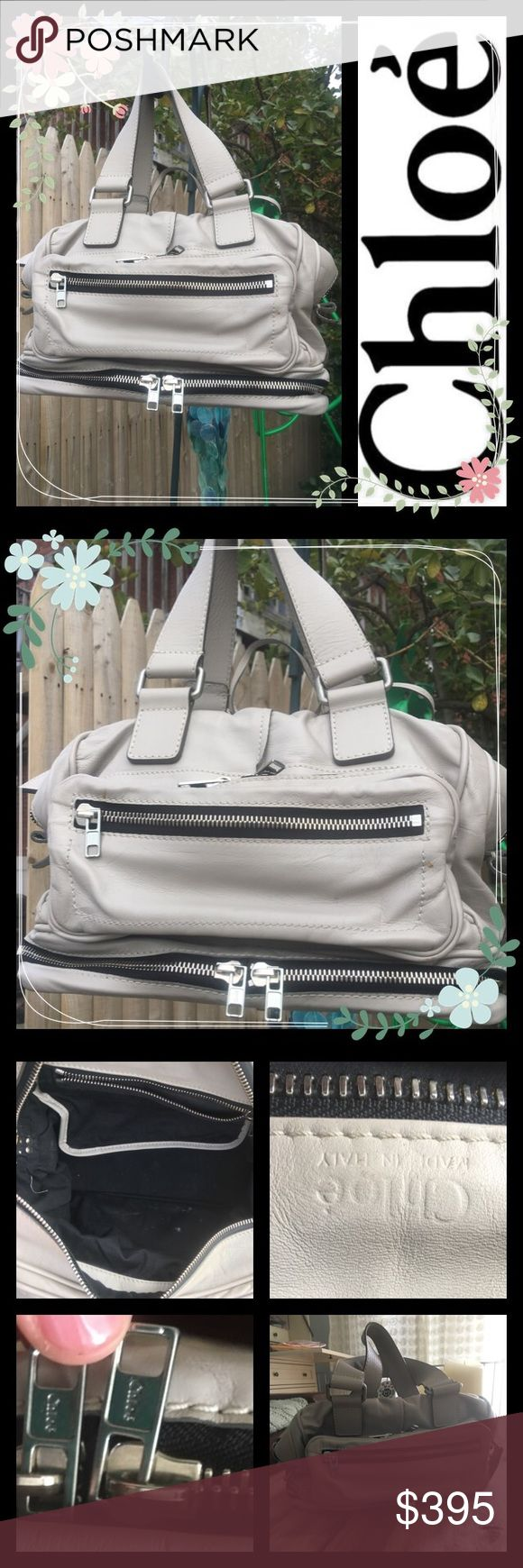 """🌺🌺March madness  🌺🌺 Chloe Betty bag 🔥🔥Reduced March 16th 2017🔥🔥Pale grey Betty bag by Chloe, this is a reposh bag I just haven't used it once. (bought at beginning of poshing! When I had to buy everything😍) Bag is authentic and in good condition except one scuff as photographed in pic 7, and few white marks inside. Price is reflective of condition and is sold """"as is""""Satchel  bag no dustbag or tags. Reduced from $375 Chloe Bags Satchels"""