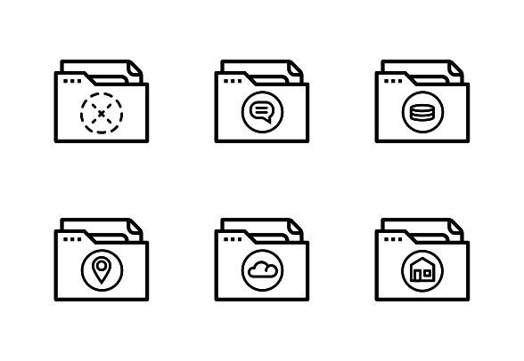Bold outline vector icons #LineIcons #VectorIcons #folderIcon