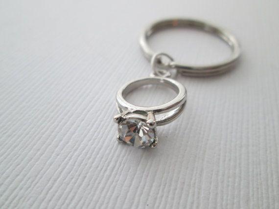 Engagement Ring Keychain by HazelSarai on Etsy
