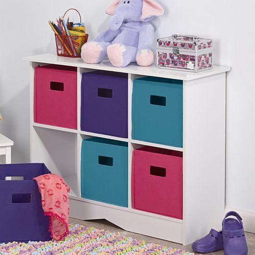 RiverRidge Kids Cabinet & Bright Storage Bins. On sale now! #ad