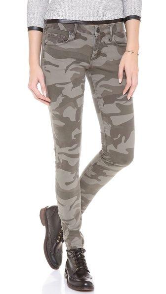 True Religion Casey Camo Skinny Jeans - Olive Camo